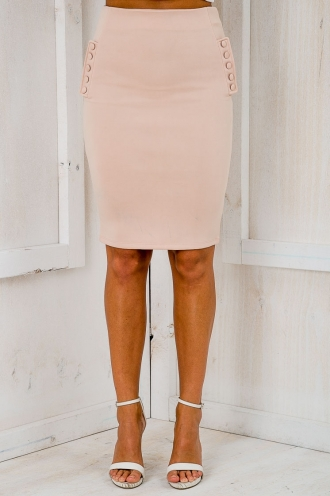 No work no play pencil skirt - Nude